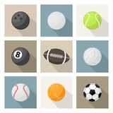 Vector sport balls icons Royalty Free Stock Photography