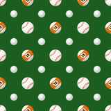 Vector sport balls seamless pattern Royalty Free Stock Images