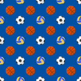 Vector sport balls seamless pattern Stock Photography