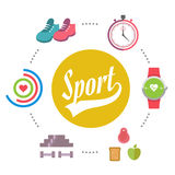 Vector Sport Banner Royalty Free Stock Photography