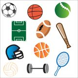 Vector Sport Elements Royalty Free Stock Images