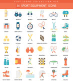 Vector Sport equipment color flat icon set. Elegant style design Sport equipment web icon. Royalty Free Stock Photography