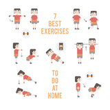 Vector sport and fitness infographics Royalty Free Stock Photo