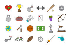 Vector sport icons set. Set of 24  sport icons Royalty Free Stock Images