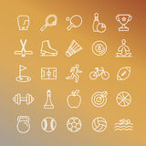 Vector sport linear icons Royalty Free Stock Photography