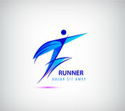 Vector sport man logo, human icon, runner, leader, business Royalty Free Stock Photo