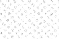 Vector sport pattern. Sport seamless background. Vector illustration Royalty Free Stock Photography