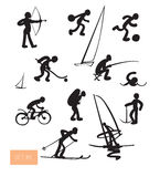 Vector sport people icons set. Stock Image