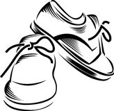 Vector sport shoes Royalty Free Stock Images