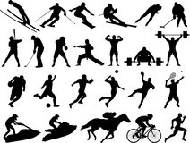 Vector sport silhouettes Royalty Free Stock Image