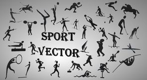 Vector sport silhouettes Stock Photography