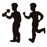 Vector of sport silhouettes Royalty Free Stock Photo