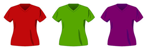 Vector sport t-shirt collection. Vector sport three shirt collection Stock Photography