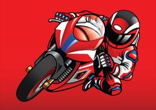 Sportbike racer in action. Vector of sportbike racer in action Stock Photos