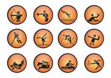 Vector sportenpictogrammen Stock Afbeeldingen