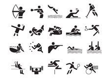 Vector sportensymbolen Stock Afbeeldingen