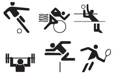 Vector sportensymbolen Royalty-vrije Stock Afbeeldingen
