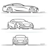 Vector sports car silhouettes stock illustration