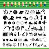 Vector sports icon set Royalty Free Stock Photo