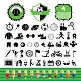 Vector sports icon set Stock Photo