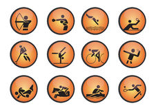 Vector sports icons. Athletes sport symbols may be use your logos and art works, vector Stock Images