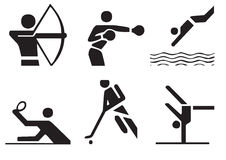 Vector sports symbols 3 Royalty Free Stock Photography