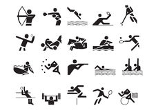 Vector sports symbols. Athletes sport symbols may be use your logos and art works, vector royalty free illustration