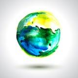 Vector Spot Earth. Vector watercolor handmade background. Vector mark. Colorful blot. Light yellow and blue spot Vector Illustration