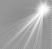 Vector spotlight. Light effectlight beam isolated on transparent background. Vector illustration stock illustration
