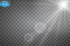 Vector Spotlights. Scene. Light Effects.Vector transparent sunlight special lens flare light effect. Sun flash with rays. Vector Spotlights. Scene. Light Effects royalty free illustration