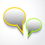 Vector Spracheluftblasen Lizenzfreie Stockbilder