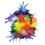 Vector spray paint, watercolor splash background Stock Image