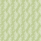 Vector sprig Seamless pattern green background. Abstract illustration hand drawn Royalty Free Stock Photography