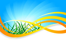 Vector spring background Stock Photography