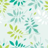 Vector spring background with branches and leaves Stock Image