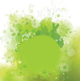 Vector spring background, rabbits in grass. Royalty Free Stock Image