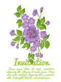Vector spring background with volumetric flowers. Paper cut flowers on white background Royalty Free Stock Image