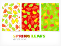 Vector - Spring banners with leafs Stock Images