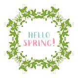Vector spring blossoms frame. Royalty Free Stock Photography