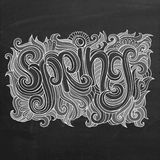 Vector Spring chalk board background Stock Photography