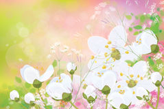 Vector spring floral background. Royalty Free Stock Image