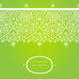 Vector spring floral border in east style. Element for design. Ornamental background. It can be used for decorating of wedding invitations, greeting cards Royalty Free Stock Photos