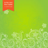 Vector spring floral pattern in Victorian style. Stock Photos