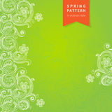 Vector spring floral pattern in Victorian style. Royalty Free Stock Images