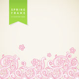 Vector spring floral pattern in Victorian style. Royalty Free Stock Photography