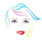 Vector spring girl Royalty Free Stock Photos
