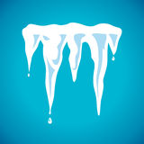 Vector spring icicles Stock Images