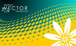Vector spring illustration with flower Royalty Free Stock Photo