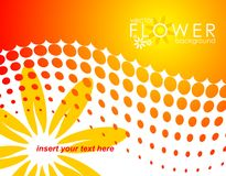 Vector spring illustration with flower Royalty Free Stock Image