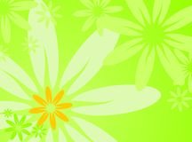 Vector spring illustration with flower Stock Photos
